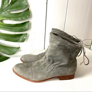 Clarke Suede Scrunchie Drawstring Ankle Boot